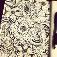 #doodle #journal #drawing #flowers   by Miranda Kozlik