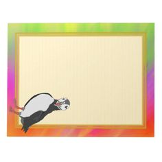 Lined Puffin Colorful Pallette 8.5x11 Note Pad