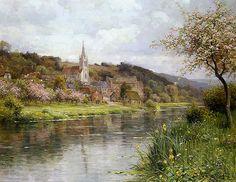 Louis Aston Knight  (1873 - 1948)  Along the Seine