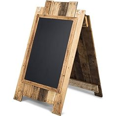 A-frame Write-on Framed Chalkboard Sidewalk Sign with Rustic Finish for Restaurants, Weddings, Menu Specials, Coffee Shops, and Boutiques VinoPallet http://www.amazon.com/dp/B0172AA0AU/ref=cm_sw_r_pi_dp_N1w-wb06J17F8
