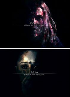 Clarke & Lexa + name meanings #The100 #Season3