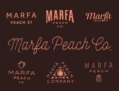 Marfa_peach_co in Lettering