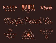 Marfa_peach_co in Lettering