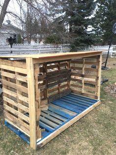 Pallet Firewood Shedfirewood Storage Box Australia Ideas Diy