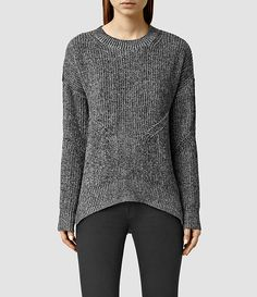 Womens Velo Sweater (Grey Marl/Black) - product_image_alt_text_1