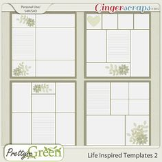 GingerScraps :: Templates :: Life Inspired Templates 2