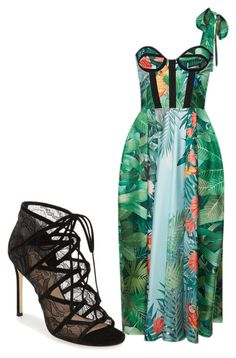 """Midnight in the garden"" by lovelaviedaily on Polyvore featuring Rochas and Pour La Victoire"