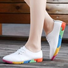 Cheap nurse shoes, Buy Quality white nursing shoes directly from China shoes pointed Suppliers: 2017 spring new lace-Up Genuine Leather women flat white nurses shoes pointed soft bottom leisure flat colorful shoes woman Shoes 2018, Women's Shoes, Shoes Tennis, Bunion Shoes, White Flat Shoes, Loafers Online, Nursing Shoes, Colorful Shoes, Lace Up Heels