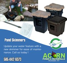 Hire The Pros At Acorn Ponds & Waterfalls For Pond Skimmer Or Koi Pond Repair, Installation Or Restoration In Rochester Monroe County - Western (NY) Including Buffalo & Syracuse Counties Near You Call Us Today Small Fish Pond, Small Ponds, Pond Maintenance, Farm Pond, Rochester New York, Pond Waterfall, Pond Water Features, Water Garden, Schedule