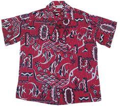 b99bc9cc 1950's Shaheen Aloha Shirt from the Nicoloff Collection Vintage Hawaiian, Aloha  Shirt, 1950s,
