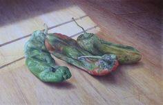 '' Pimientos italianos 1 '' drawing by Virginia Rodriguez Cañete ,Spain .