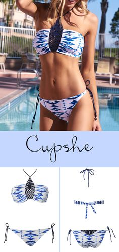 Treat Yourself to Something Special like Cupshe Diamond Lady Halter Bikini Set. Save on the hottest items of the season. Shop now.
