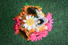 mini felt bouquet