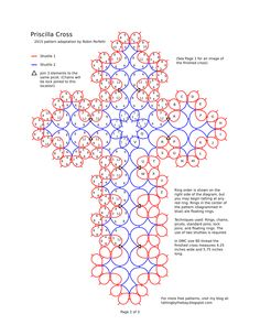 "Képtalálat a következőre: ""cross pattern tatting"" Cross Patterns, Stitch Patterns, Knitting Patterns, Crochet Patterns, Shuttle Tatting Patterns, Needle Tatting Patterns, Tatting Tutorial, Yarn Thread, Granny Square Crochet Pattern"