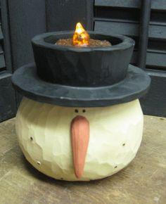 Snowman Head Tealight Holder