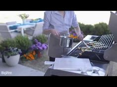 How to grill scallop and fruit kabobs.