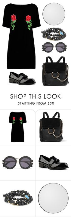 """To the moon and back."" by schenonek ❤ liked on Polyvore featuring Boohoo, Chloé, Karen Walker, Nine West and Alanna Bess"