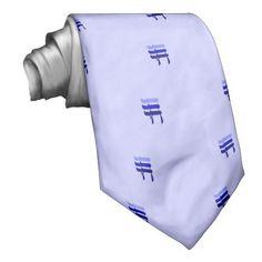 Chai jewish neck tie