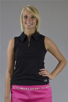 Wear to Win Shirts - The Perfect Zip Top - Black Onyx.  Buy it @ ReadyGolf.com Womens Golf Shirts, Ladies Golf, Black Onyx, Black Tops, Gift Ideas, Zip, Tees, How To Wear, Style