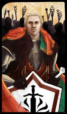 Possible tarot card for a post-Kirkwall, post-mage hate, post-lyrium addiction, healthy, happy, has-his-shit-together Cullen.