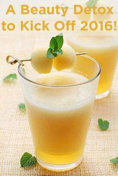 Put your best face forward with this honeydew detox juice!