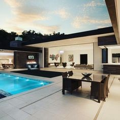 Via: Do you like this pool? Do you like this open window house concept? - Architecture and Home Decor - Bedroom - Bathroom - Kitchen And Living Room Interior Design Decorating Ideas - Millionaire Homes, Terrasse Design, Modern House Design, Home Fashion, Exterior Design, Modern Architecture, Future House, Luxury Homes, Luxury Life
