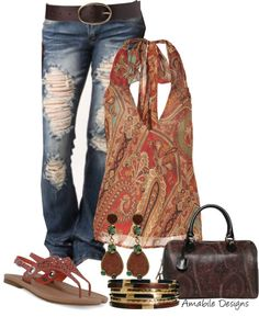 """""""Spring Casual - Paisley Contest"""" by amabiledesigns on Polyvore"""