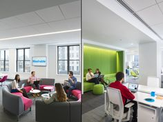 """The result is a vibrant, fluid sequence of open workstations, enclosed conference rooms, multipurpose/all hands spaces, and large """"Mad Men"""" inspired private offices that double as conference/collaboration space."""