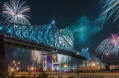 Coups+de+coeur+photos+Instagram+#28+:+Spécial+spectacle+inaugural+d'illumination+du+Pont+Jacques-Cartier Jacques Cartier, Spectacle, Photo Instagram, Sydney Harbour Bridge, Coups, Canada, City, Photos, Travel