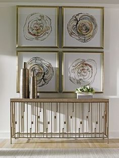 Design a chic welcome by placing this Lexington Home Brands Shadow Play Studio Console Table in your foyer or hall. This tall and lean console table. Dining Room Console, Modern Console Tables, Lexington Furniture, Lexington Home, New Interior Design, Shadow Play, Luxury Home Decor, Loft, Studio