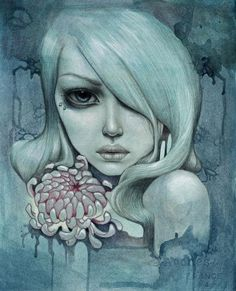 Mandy Tsung 15  - Surreal Portrait Paintings by Mandy Tsung  <3 <3 http://www.cuded.com/2012/11/surreal-portrait-paintings-by-mandy-tsung/