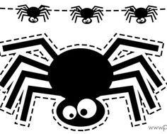 Plantilla-araña-Halloween-imprimir-y-recortar-guirnalda