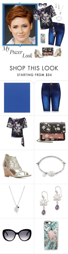 """What's Your Power Look? -  Contrast Look"" by selene-cinzia ❤ liked on Polyvore featuring Sunbrella, City Chic, M&Co, MANGO, Donald J Pliner, Me&Ro, NOVICA, ESCADA, Casetify and MyPowerLook"