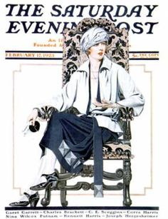 Saturday Evening Post Cover ILL. Feb 17 1923  by  Coles Phillips