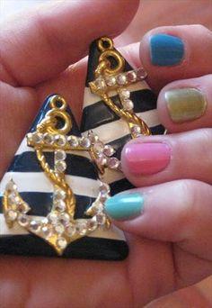 Nautical nautical nautical vintage earrings