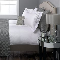 Marlow Cotton Sateen Duvet Cover and Oxford pillowcases from John Lewis