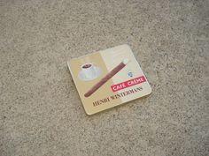 Vintage HENRI WINTERMAN'S CAFE CREME Cigarette Cigar Metal Tin HOLLAND
