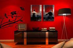 Kırmızının asaletini evinde hissedenler için :) #tabloda #kırmızı #dekorasyon