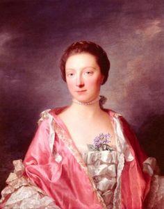 Bildnis von Elizabeth Gunning Herzogin von Argyll von  Allan Ramsay