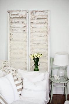 Antique Shutters  You can find similar shutters in the Houston area at www.jardindefrancetx.com