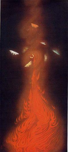 速水御舟《炎舞》| HAYAMI Gyoshu -  Dance of Flames (Enbu), 1925