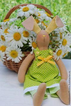 Куклы Тильды ручной работы. Ярмарка Мастеров - ручная работа Летняя зайка Тильда. Handmade.