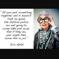 """danielle_colby_american_picker: """"#goddess #irisapfel #goals"""""""