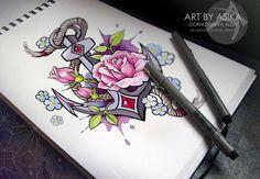 neotraditional neotraditionaltattoo tattoo tattoodesign tattoos tattooed tattooartists tattooart tattooartwork art tattooflash tattoosketch ink tat тату та&#1090...