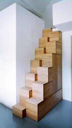 escalier à pas décalés