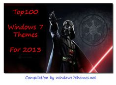 2013 is drawing to a close quickly now, time to review all compilations of the top 100 custom-made 3rd-party Windows 7 themes that were created in 2013. If you Windows 7 Themes, Desktop Themes, Cool Desktop, Custom Windows, The 100, Darth Vader, Drawing, Party, Sketches