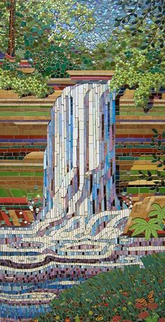 Minnehaha Falls - a stunning mosaic by Michael Sweere