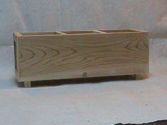 Wood Herb Planter by JacksHomeandGarden on Etsy, $32.00