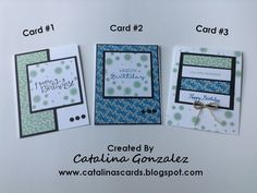 Catalina's Cards                      : 6 x 6 One Sheet Wonder - 3 Birthday Cards, Stampin' Up!