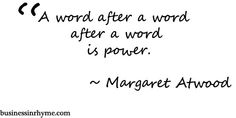 #poetry #quote m. atwood